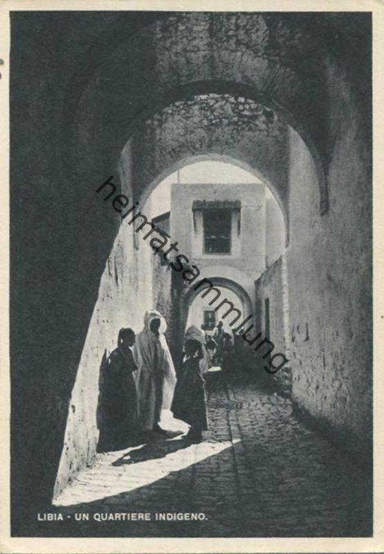 Libia - un quartiere indigeno - AK Grossformat - Rückseite beschrieben 1942