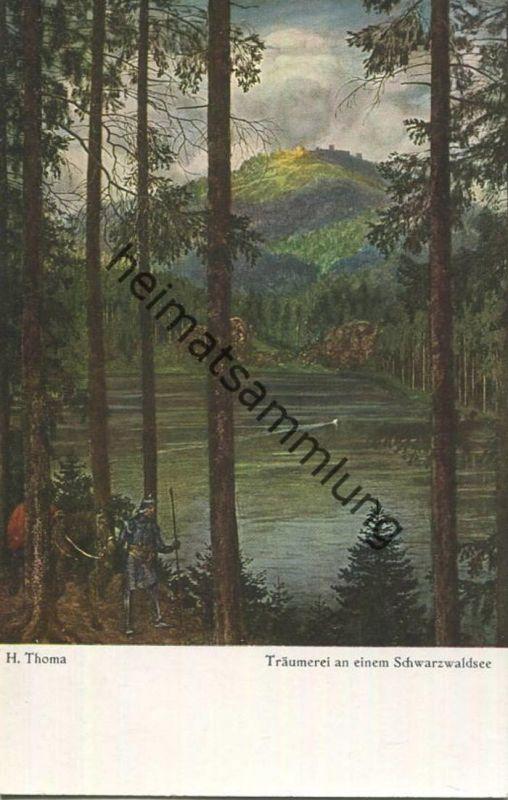 H. Thoma - Träumerei an einem Schwarzwaldsee - Verlag F. Bruckmann München - Bildkarte Nr. 47