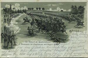 Der Todesritt - der Kavalleriedivision de Bonnemains bei Elsasshausen am 6. August 1870 - Verlag von A. Levy Wörth an de