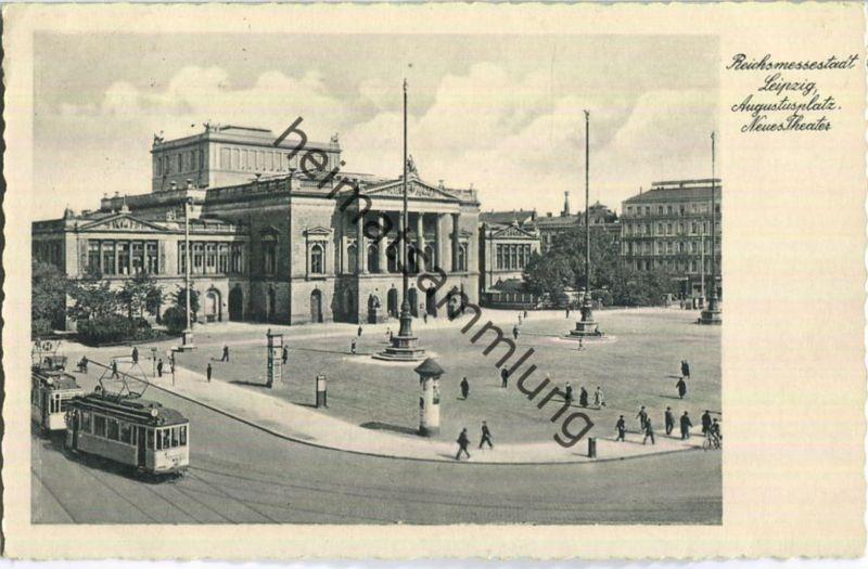 Leipzig - Augustusplatz - Neues Theater - Straßenbahn