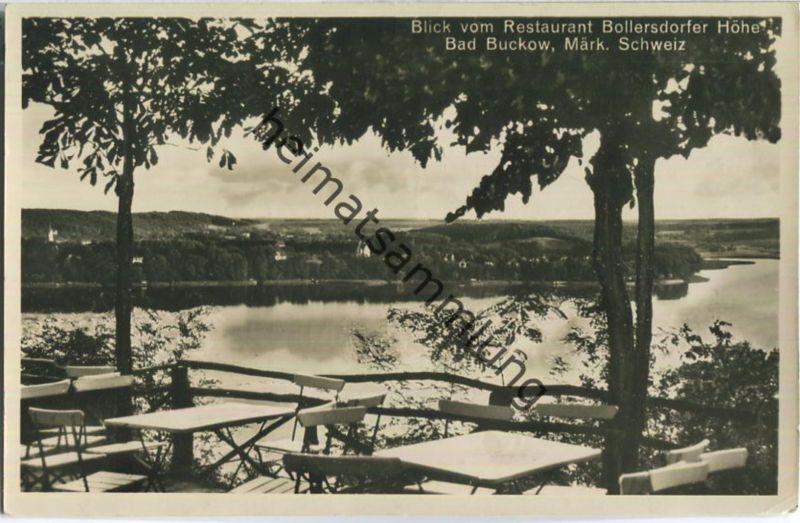 Bad Buckow - Restaurant Bollersdorfer Höhe - Foto-Ansichtskarte - Verlag Karl Erbes Buckow