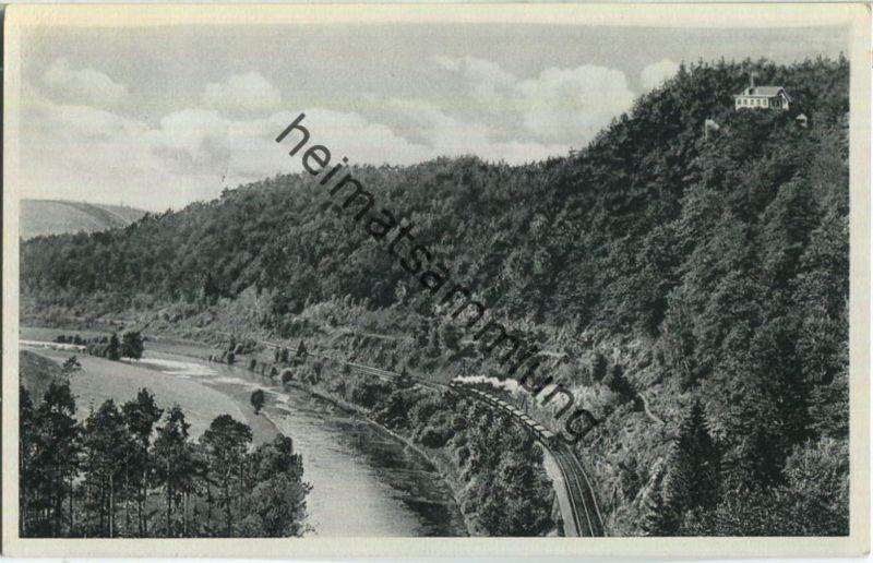 Augustusburg - Berggastwirtschaft Kunnersteinbaude - Inhaber Emil Hamann - Eisenbahn - Verlag Gebr. Metz Tübingen