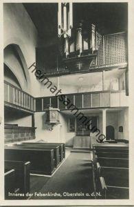 Oberstein - Felsenkirche - Orgel - Foto-AK - Verlag Herm. van der Woude Oberstein gel. 1929
