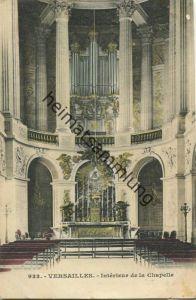 Versailles - Interieur de la Chapelle - Rückseite beschrieben 1909