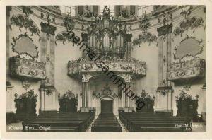Kloster Ettal - Orgel - Foto-AK - Verlag Martin Herpich München