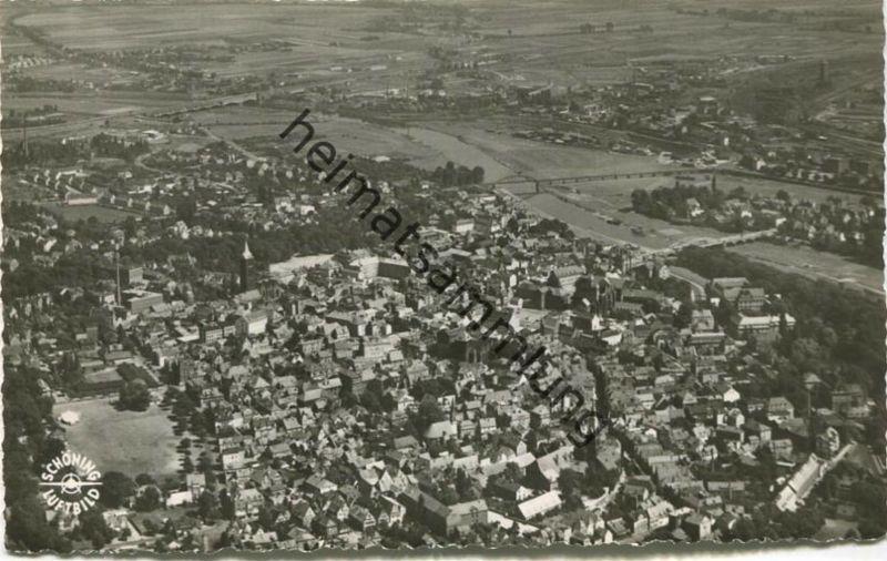 Minden - Luftbild - Foto-AK 50er Jahre - Verlag Schöning & Co Lübeck