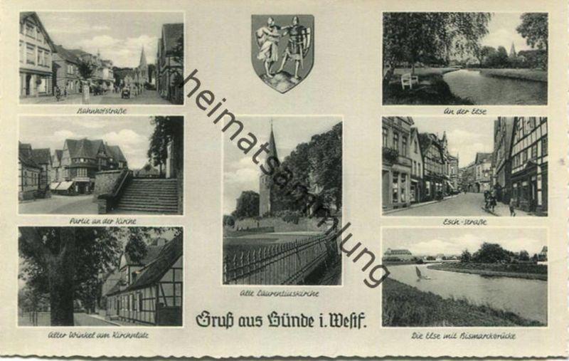 Bünde - Bahnhofsstrasse - Esch-Strasse - Else - Foto-AK - Verlag Schöning & Co Lübeck