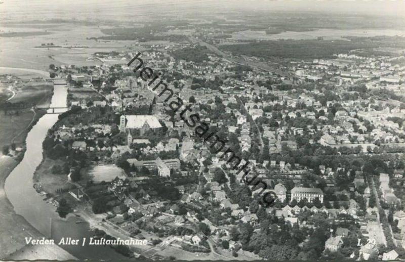 Verden (Aller) - Luftaufnahme - Foto-AK - Verlag Ferd. Lagerbauer & Co Hamburg