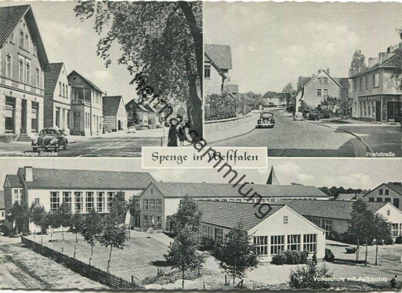 Spenge - Lange Strasse - Poststrasse - Volksschule - AK Grossformat - Verlag H. Nottelmann KG Spenge