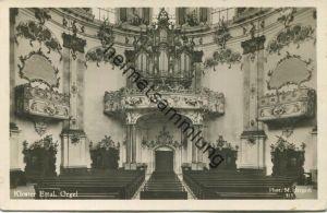 Ettal - Kloster - Orgel - Foto-AK - Verlag Martin Herpich München