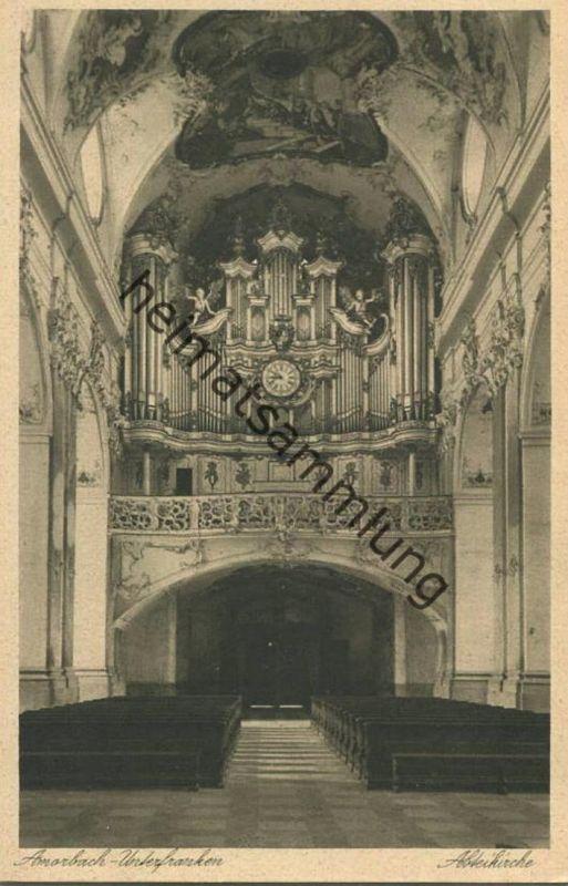 Amorbach - Abteikirche - Orgel - Verlag Wilh. Gerling Darmstadt 0