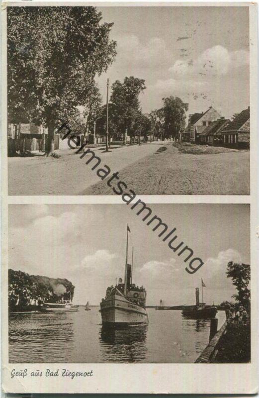 Trzebiez - Ziegenort - Dorfstrasse - Verlag G. Grade Stettin-Züllchow