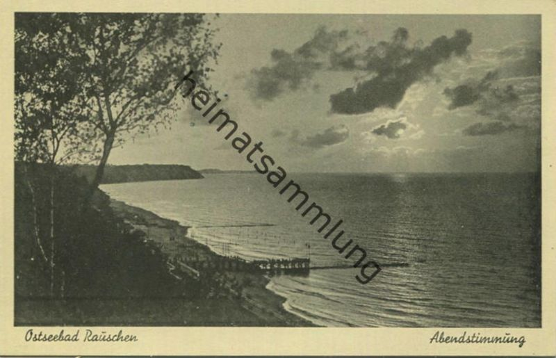 Ostseebad Rauschen (Swetlogorsk) - Abendstimmung - Verlag Bruno Perling Königsberg