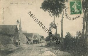 Izy - Entree du Bourg gel. 1913