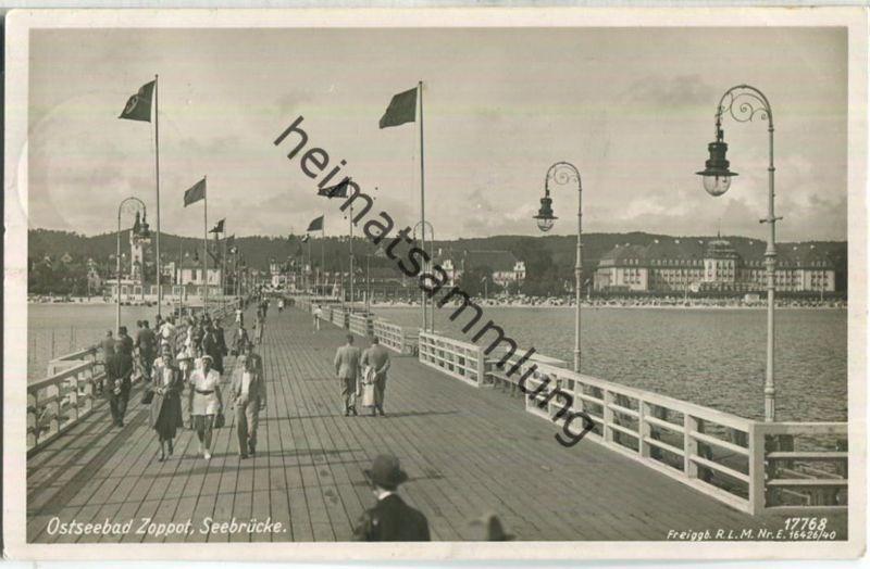 Sopot - Zoppot - Seebrücke - Verlag Geyer & Co. Breslau