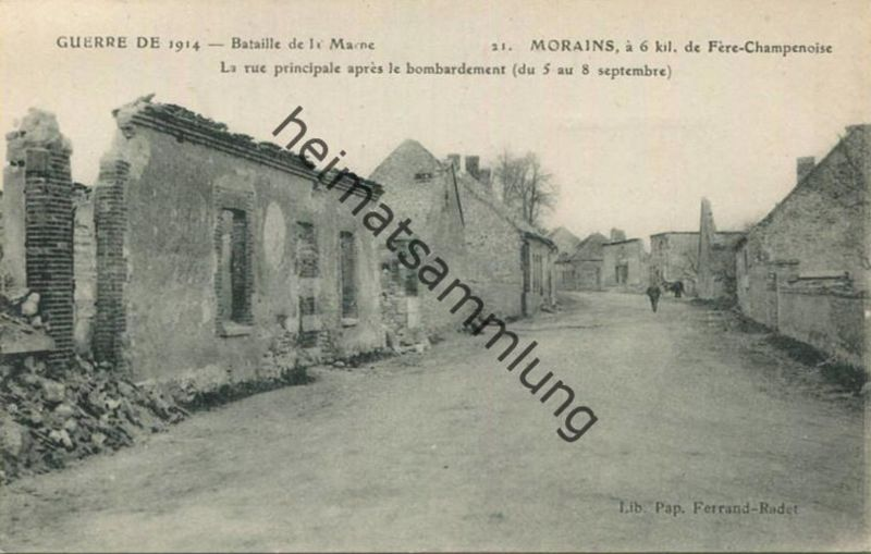 Morains - La rue principale