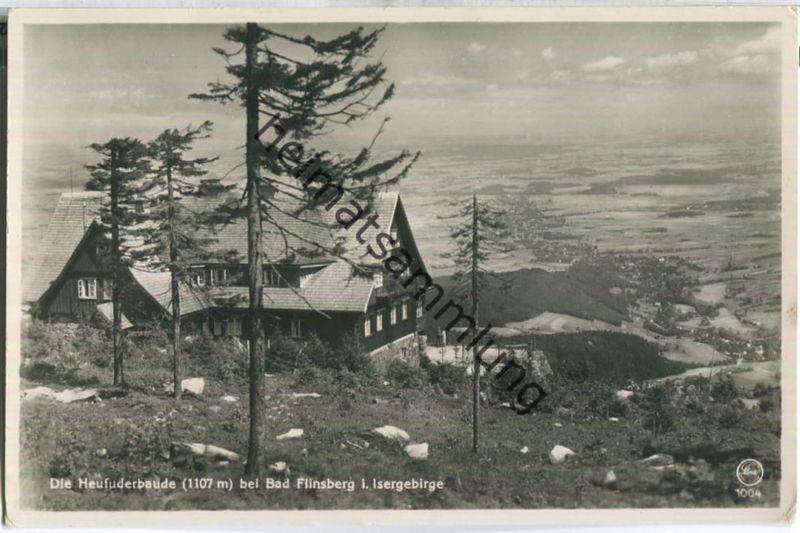 Heufuderbaude A. Kober - Swieradow-Zdroj - Bad Flinsberg - Foto-Ansichtskarte - Verlag E. Wagner Söhne Zittau