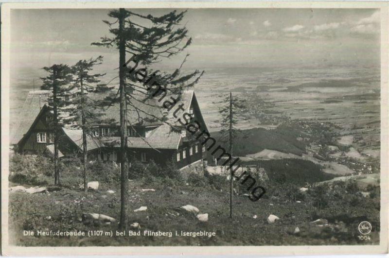 Heufuderbaude A. Kober - Bad Flinsberg - Foto-Ansichtskarte - Verlag F. Wagner Söhne Zittau