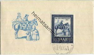 FDC - Saar - Tag der Briefmarke 1952