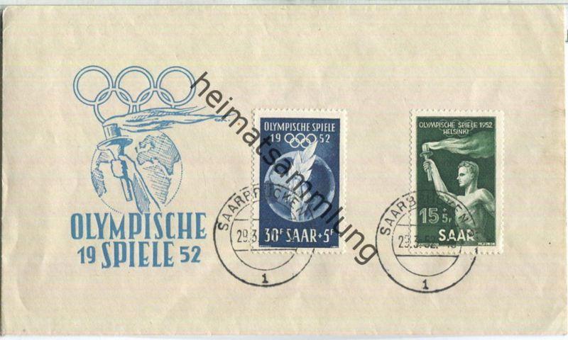 FDC - Saar - Olympische Spiele 1952