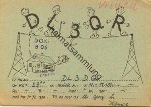 QSL - Funkkarte - DL3QR - Bayreuth - 1959