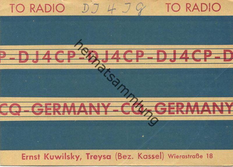 QSL - Funkkarte - DJ4CP - Treysa - 1958
