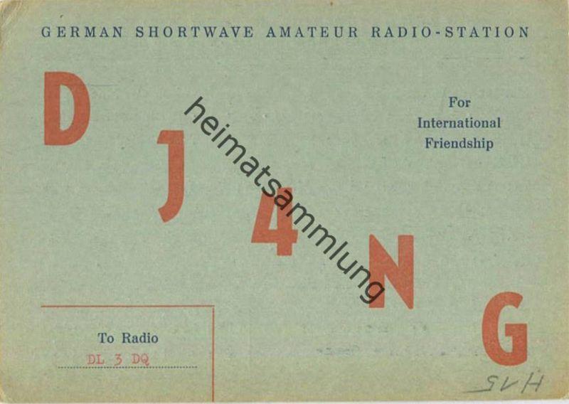QSL - Funkkarte - DJ4NG - Sehnde - 1958