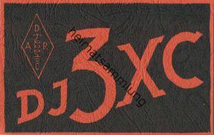 QSL - Funkkarte - DJ3XC - Hörsum - 1959
