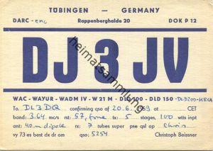 QSL - Funkkarte - DJ3JV - Tübingen - 1959