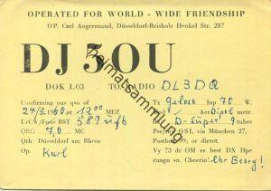 QSL - Funkkarte - DJ5OU - Düsseldorf-Reisholz - 1960