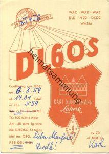 QSL - Funkkarte - DL6OS - Lübeck - 1959