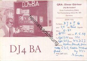QSL - Funkkarte - DJ4BA - Boltenhagen - 1959
