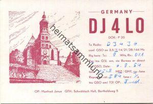 QSL - Funkkarte - DJ4LO - Schwäbisch Hall - 1959