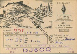 QSL - Funkkarte - DJ5CQ - Ebing - 1959