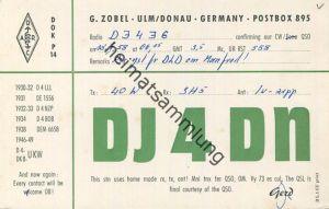 QSL - Funkkarte - DJ4DN - Ulm - 1958