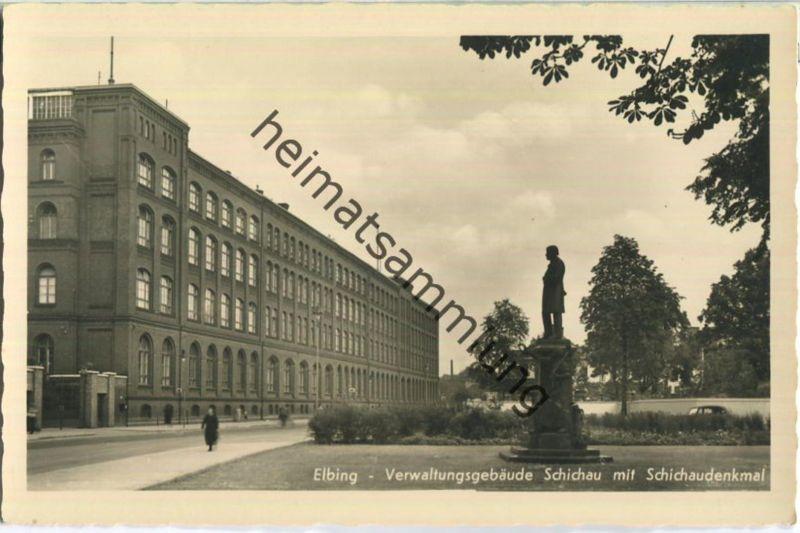 Elbing - Verwaltungsgebäude Schichau - Foto-Ansichtskarte - Verlag Schöning & Co Lübeck