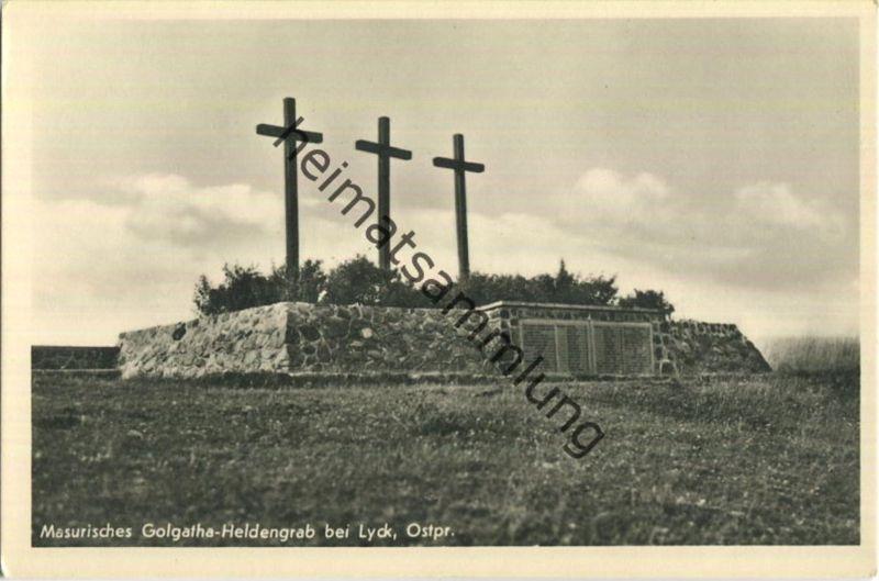 Lyck - Elk - Masurisches Golgatha Heldengrab - Foto-Ansichtskarte - Verlag Schöning & Co Lübeck