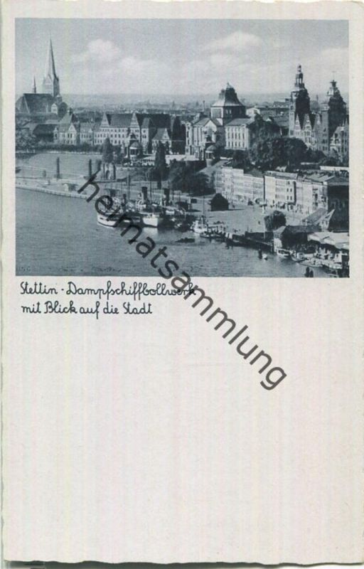 Szczecin - Stettin - Dampfschiffbollwerk - Verlag Schöning & Co Lübeck
