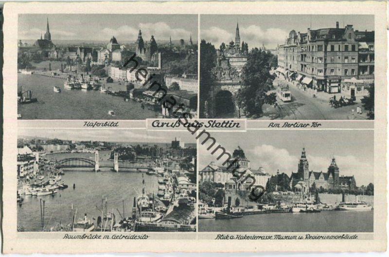 Szczecin - Stettin - Berliner Tor - Baumbrücke - Verlag Schöning & Co Lübeck