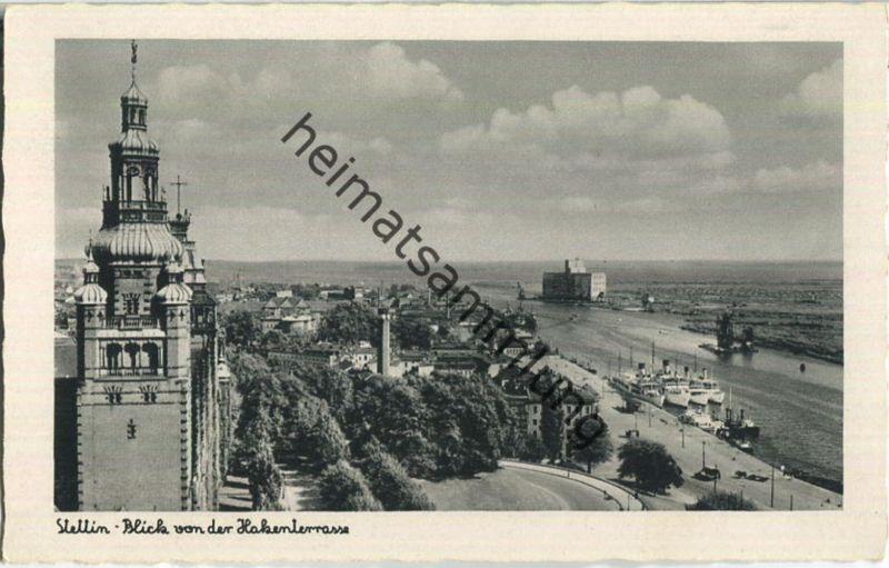 Szczecin - Stettin - Blick von der Hakenterrasse - Verlag Schöning & Co Lübeck