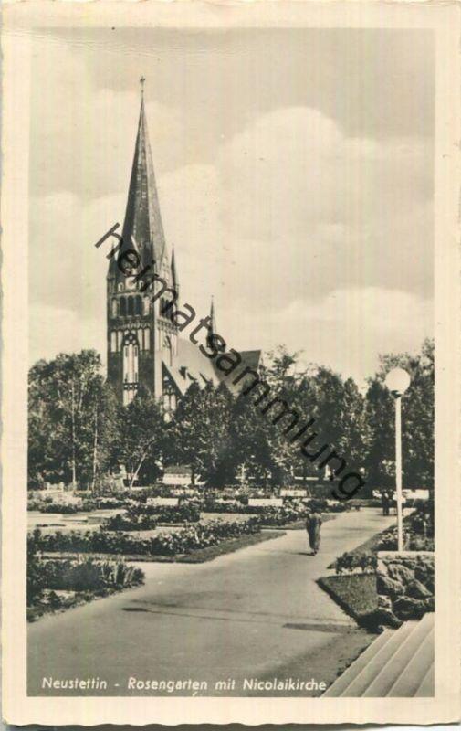 Szczecinek - Neustettin - Rosengarten - Nicolaikirche - Verlag Schöning & Co Lübeck