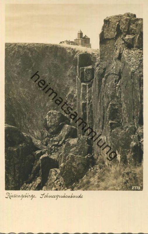 Riesengebirge - Schneegrubenbaude - Foto-AK - Verlag E. Wagner Zittau-Grottau