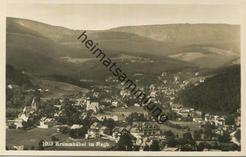 Krummhübel - Foto-AK - Verlag Bruno Scholz Görlitz-Krummhübel