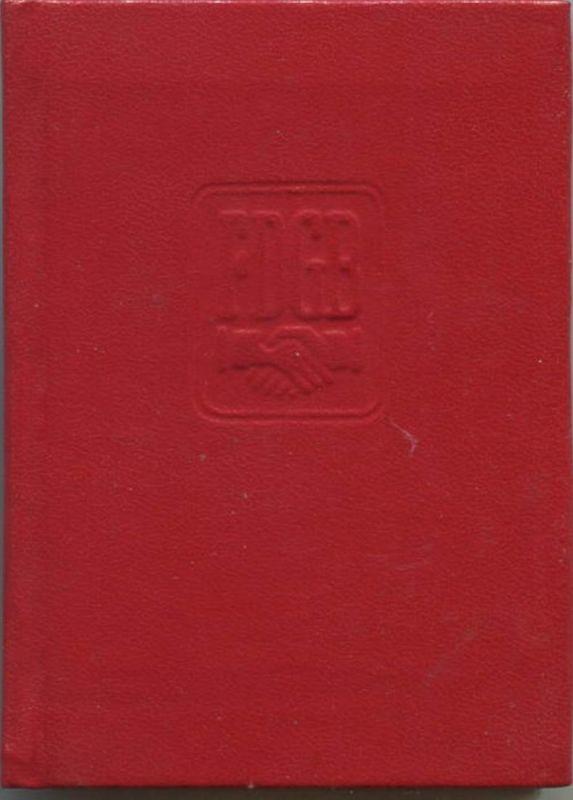 DDR - FDGB Mitgliedsbuch - Freier Deutscher Gewerkschaftsbund - IG Metall Leipzig - Beiträge von 1986 bis 1989