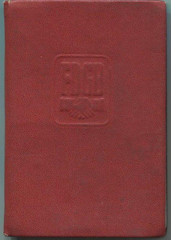 DDR - FDGB Mitgliedsbuch - Freier Deutscher Gewerkschaftsbund - IG Metall Leipzig - Beiträge von 1970 bis 1979
