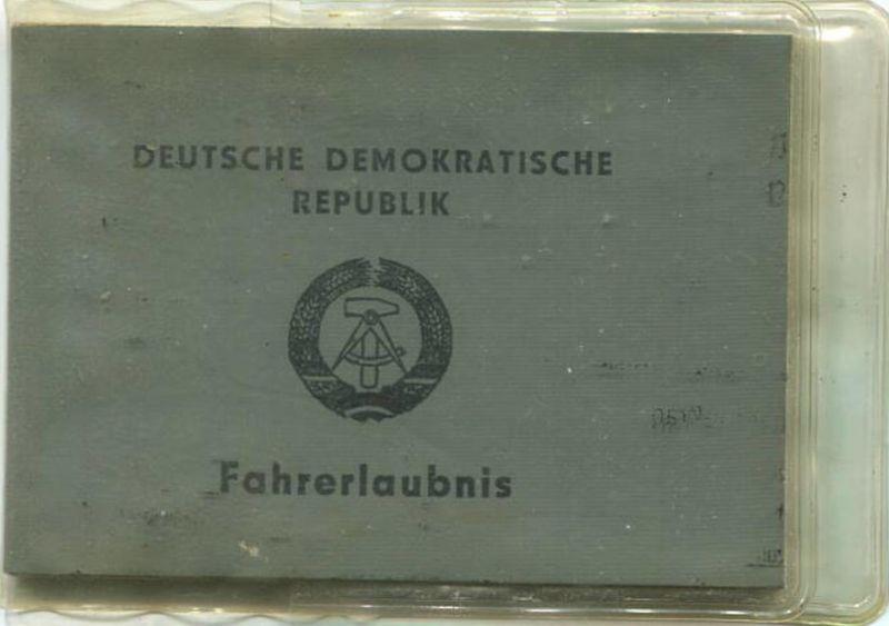 DDR - Deutsche Demokratische Republik - Fahrerlaubnis 1975