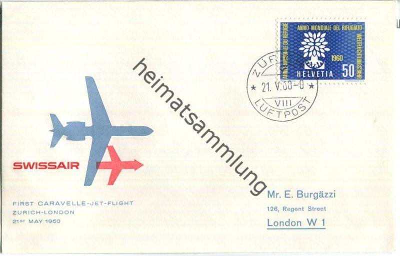 Swissair - First Jet Flight - Caravelle - Zürich-London 1960