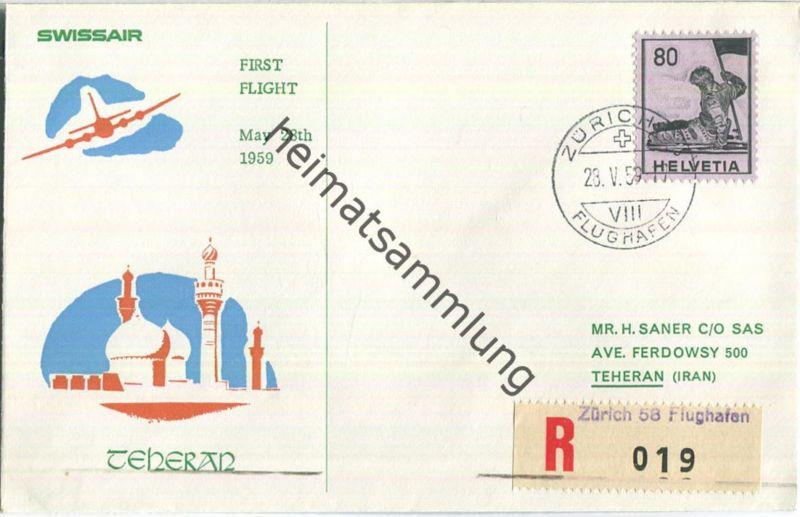 Swissair - First Jet Flight - Zürich-Teheran 1959