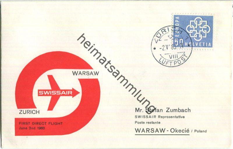 Swissair - First Direct Flight - Zürich-Warsaw 1960