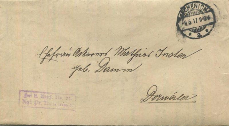 Lechenich - Gemeindeschreiberei des Königlichen Amtsgerichts Dorweiler 1917 - Betrifft Grundbuch von Dorweiler